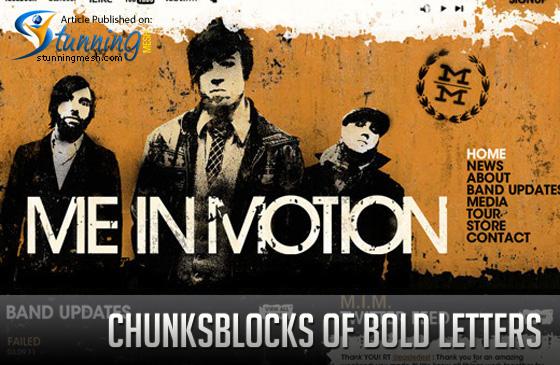 ChunksBlocks of Bold Letters