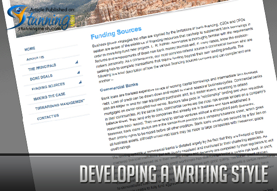 Developing a Writing Style
