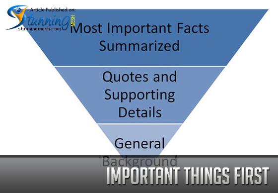 Important Things First, the Inverted Pyramid Formula