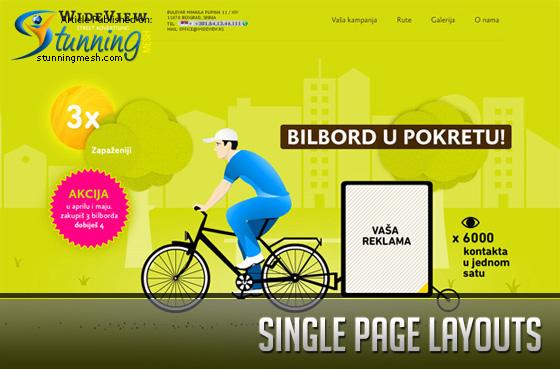 Single Page Layouts