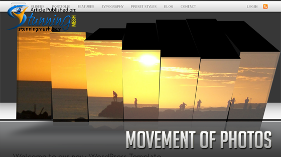 Photography Website - Movement of Photos