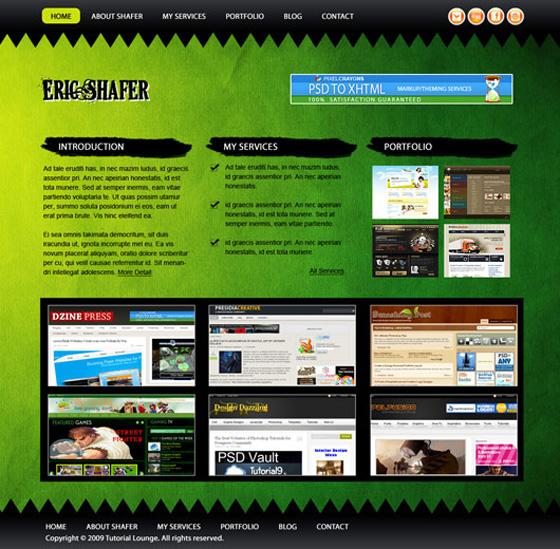 Excellent Web Layout Design Tutorials in Photoshop