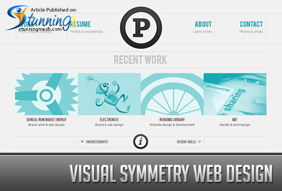 Visual Symmetry Minimal Web Design