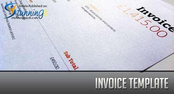 Freelance Design Business - Invoice Template