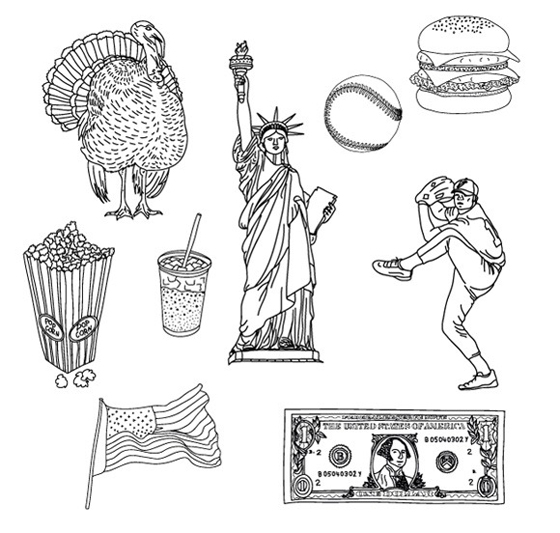 American Vector Doodles