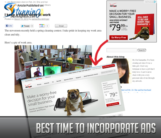 Best Time to Incorporate Ads