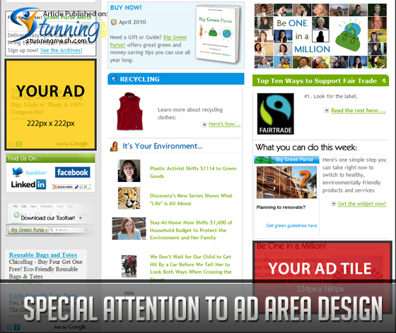 Special Attention to Ad Area Design