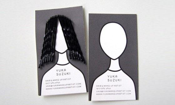 Business Card Designs- Hair Pins