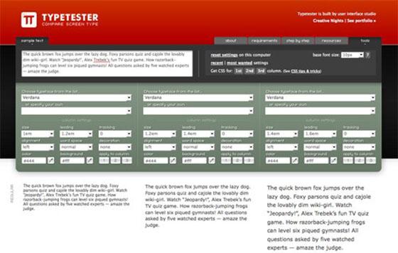 Typetester - Online Design Generators