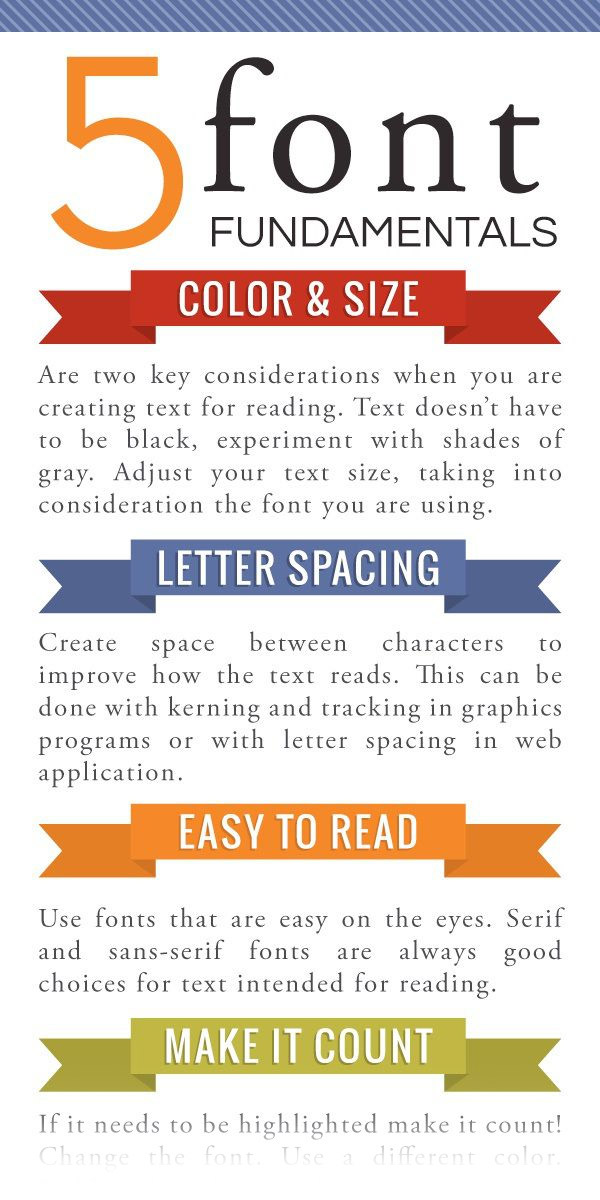 Infographic: 5 Font Fundamentals