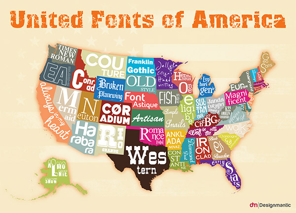 Infographic: United Fonts of America
