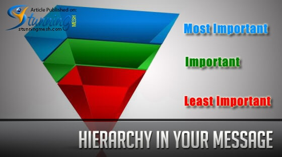 Hierarchy in Your Message