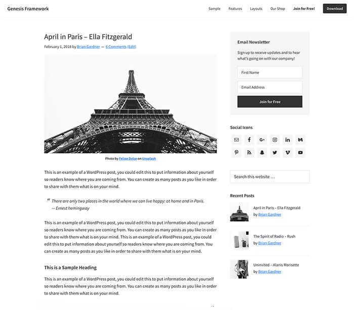 Web Designs Landscape Premium WordPress Theme