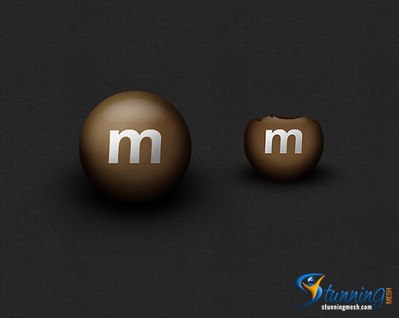 M&M Chocolate Design in Photoshop – [Photoshop Tutorial]