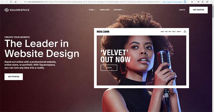 Website Builders - Square Space Dot Com