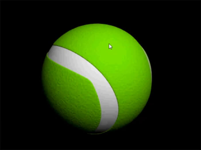 Tennis Ball in 3D Studio Max - Final Result