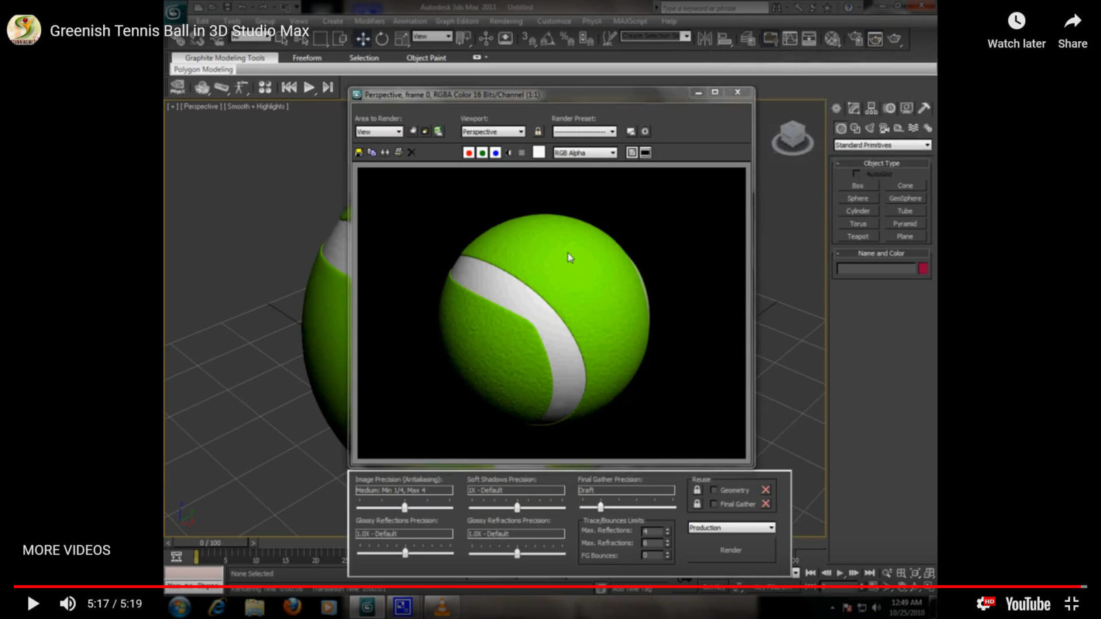 Tennis Ball in 3D Studio Max Tutorial