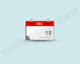 How to Design Blog Calendar Icon in Photoshop