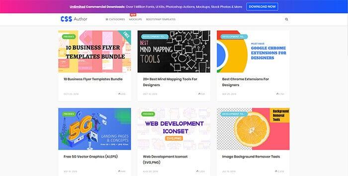 Graphic Design Website - CSS Author