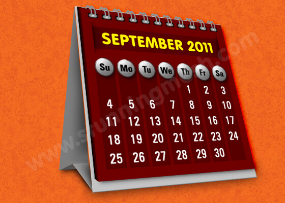 Photoshop Tools to Design Table Calendar Icon