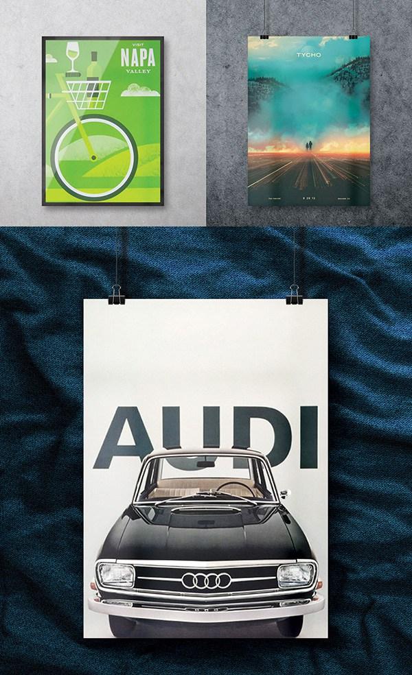 60+ Best Free Poster Mockups (Psd / Vector) for Designers