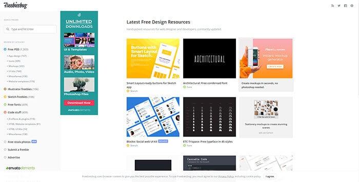 Graphic Design Website - Freebiesbug