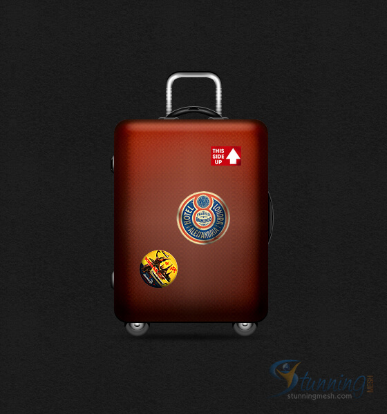 Luggage Design in Photoshop - Final Result