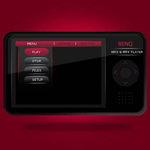 MP3/MP4 Player in Photoshop