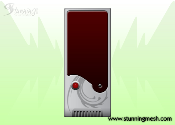 PC Casing Front View Design in Photoshop - Step 0