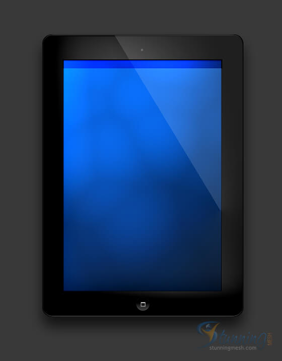 Realistic iPad Design in Photoshop