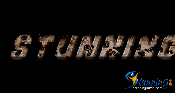 Rusted Holes Text Effect in Photoshop - Final Result
