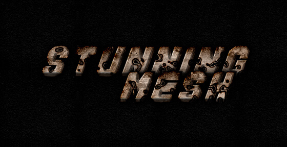 Rusted Holes Text Effect in Photoshop