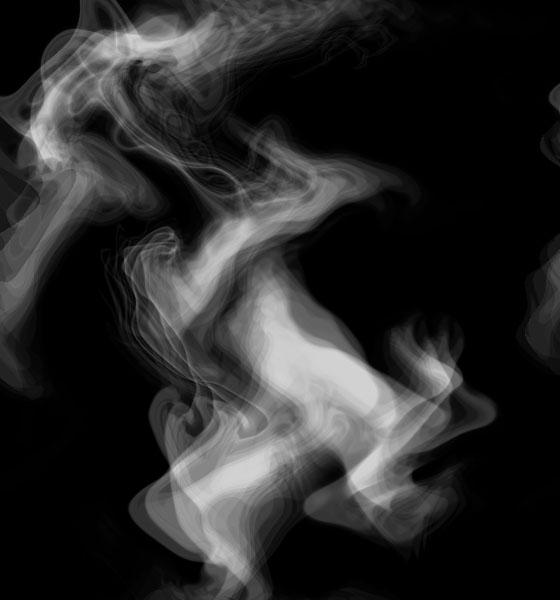 Smoke in Photoshop.