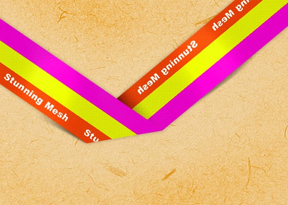 Multicolor Ribbon in Photoshop