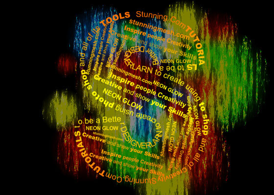 Text on Colorful Background in Photoshop