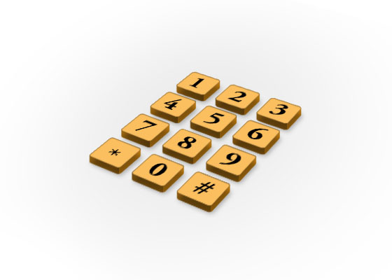 How to make Phone Keypad in Photoshop?