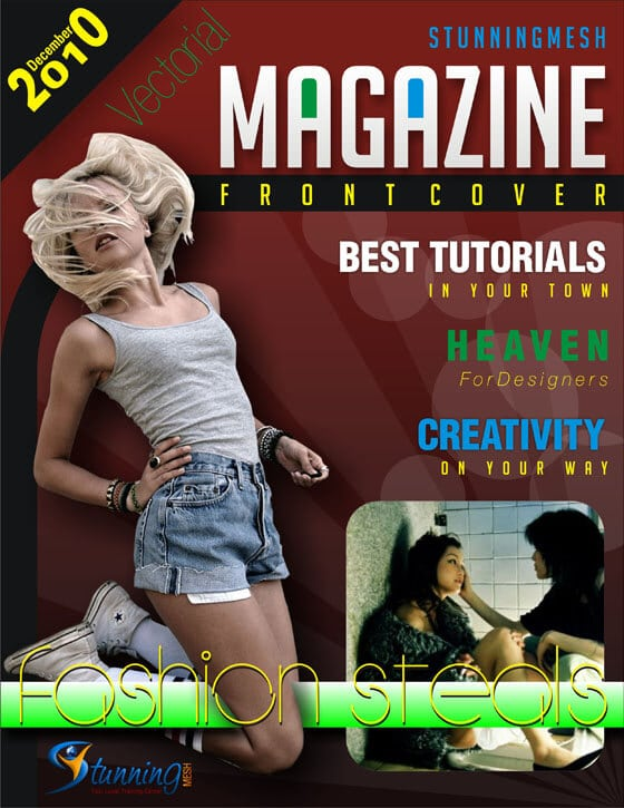 How to Create a Vectorial Magazine Front Cover