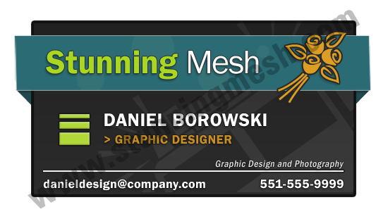 Basic & Simple Business Card for Beginners