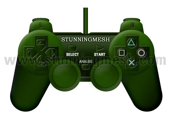 Playstation Joystick in Photoshop
