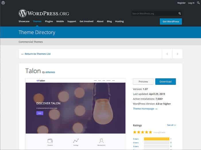 Talon WordPress Template