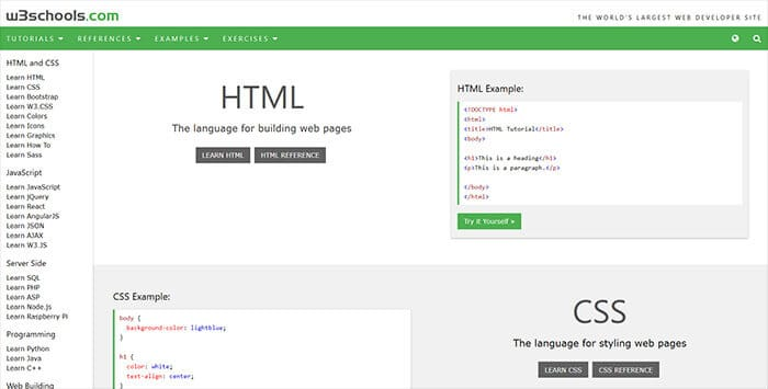 Web Development - W3Schools